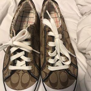 COACH brown barrett tenis shoes